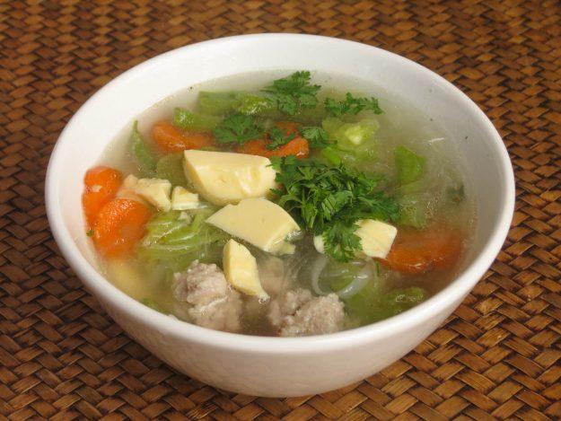 Thai Akha Kitchen - Clear Soup with Egg Tofu