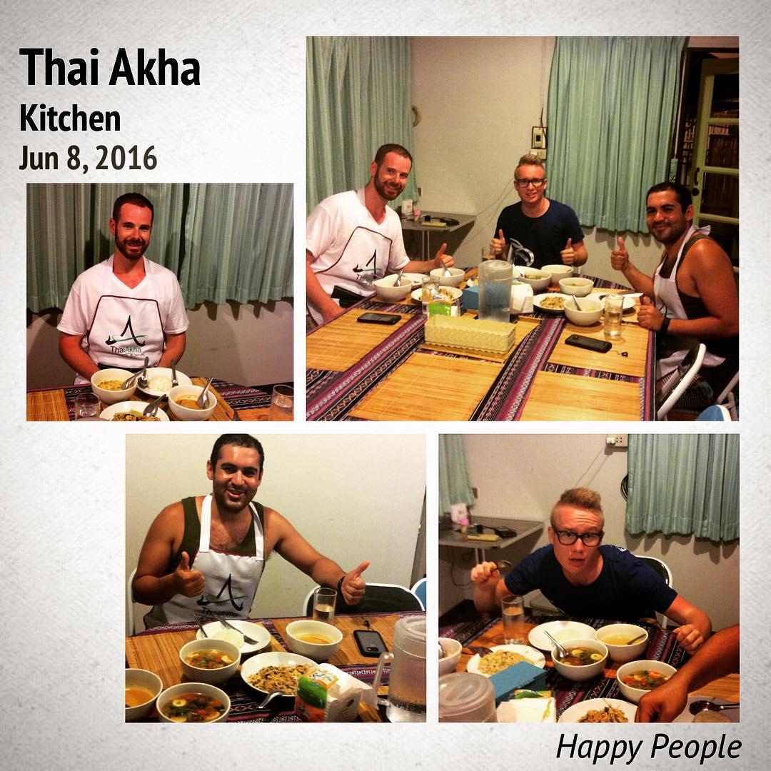 Happy People at Thai Akha Kitchen