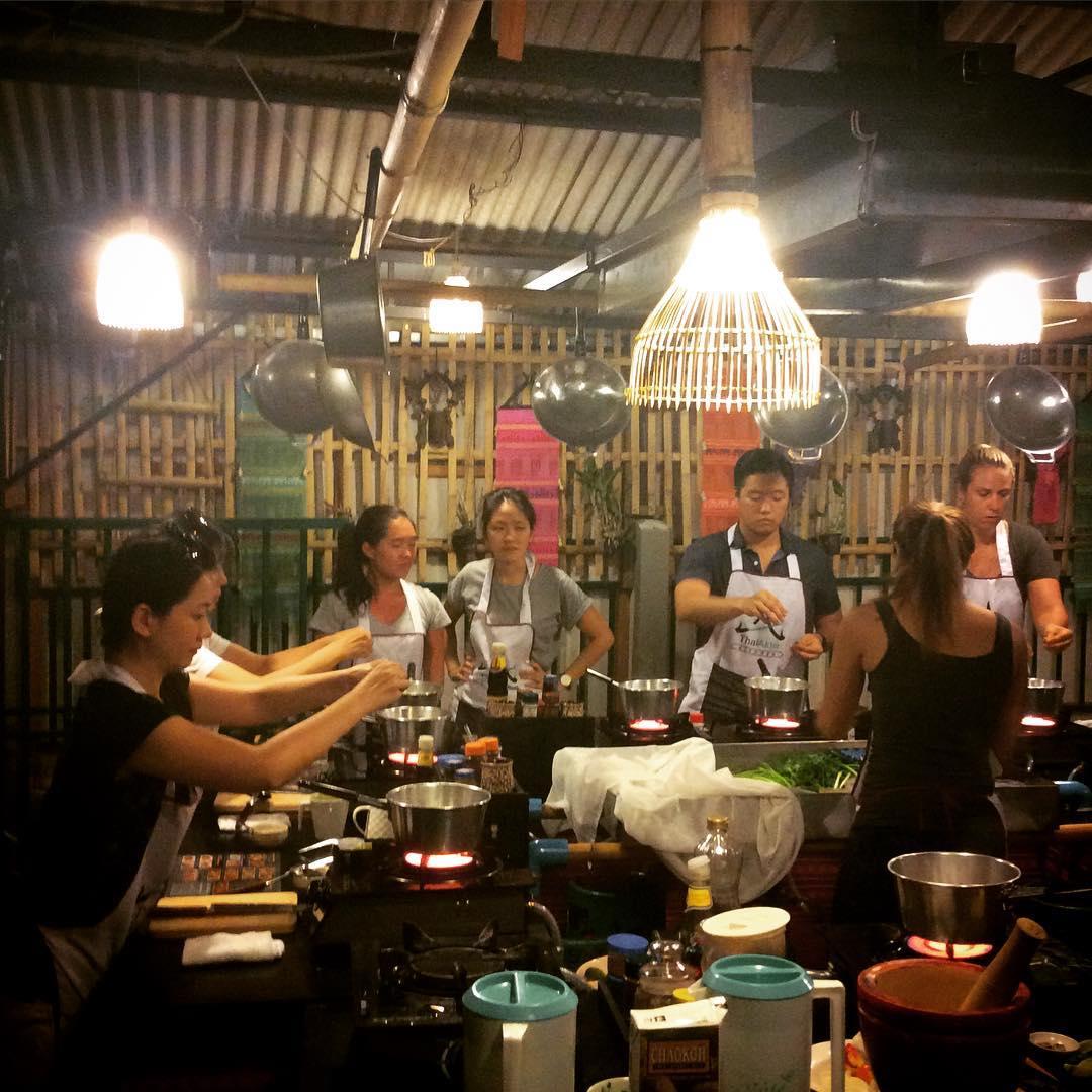 Working hard at Thai Akha Kitchen